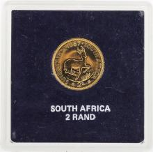 1967 South Africa 2 Rand Gold Coin