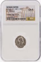 Roman Empire AD 128-136/7 Sabina AR Denarius Coin NGC Ch F
