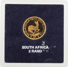 1972 South Africa 2 Rand Gold Coin