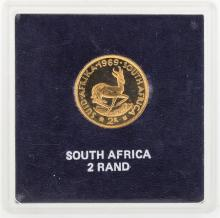 1969 South Africa 2 Rand Gold Coin