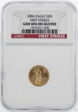 2006 $5 American Gold Eagle Coin NGC Gem Uncirculated