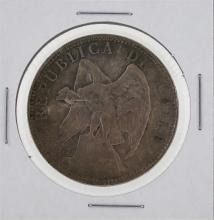 1903 Chile Silver Peso Coin