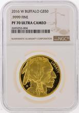 2016-W $50 1 oz Proof Gold Buffalo Coin NGC PF70 Ultra Cameo