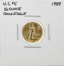 1989 $5 American Gold Eagle Coin