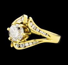18KT Yellow Gold 1.86ctw Diamond Ring