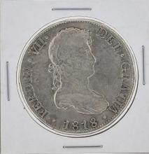 1818 Bolivia 8 Reales Silver Coin KM84