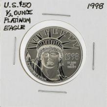 1998 $50 Platinum American Liberty Eagle Coin