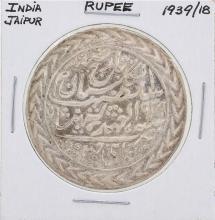 1939/18 India Jaipur Rupee Coin