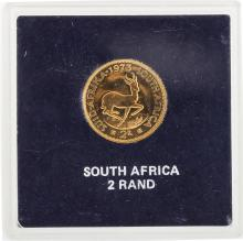 1973 South Africa 2 Rand Gold Coin