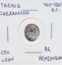 400-350 Thrace Cherronesos Lion and Hemidrachm Coin