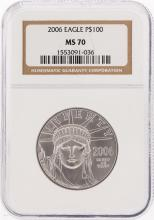2006-P $100 American Platinum Eagle Coin NGC MS70