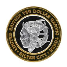 .999 Silver Silver City Las Vegas, Nevada $10 Gaming Token Limited Edition