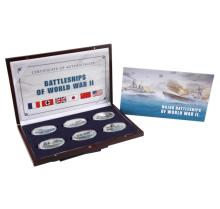 2013 $1 Oval Battleships of World War II Proof Clad Coin Set