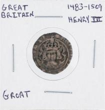 1483-1509 Great Britain Henry III Groat Coin