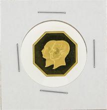 1976 Iran 50th Anniversary Octagon Gold Coin