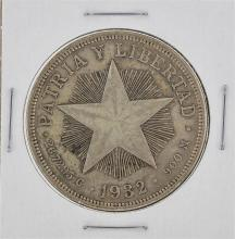 1932 Cuba Silver Peso Coin