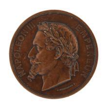 1868 France Napoleon III Universal Exposition Medal