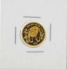 1986 1/10 oz China Panda Gold Coin