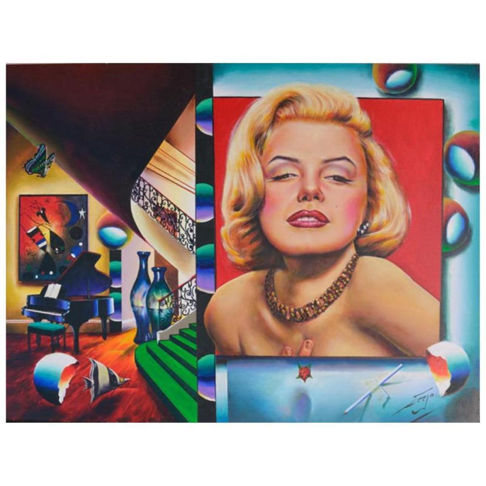 "Ferjo Original ""Glamorous Marilyn"" Original Oil On Canvas"