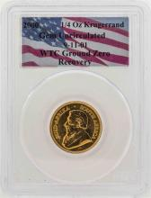 WTC Ground Zero Recovery 2000 1/4 oz. Krugerrand Gold Coin PCGS Gem Uncirculated