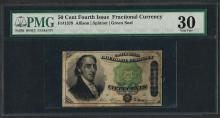 March 3, 1863 Fourth Issue 50 Cent Fractional Currency Note Fr.1379 PMG Very Fin