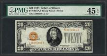 1928 $20 Gold Certificate Note Fr.2402 PMG Choice Extremely Fine 45EPQ