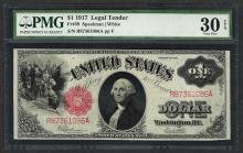 1917 $1 Legal Tender Note Fr.39 PMG Very Fine 30EPQ