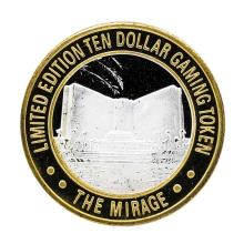 .999 Silver The Mirage Las Vegas, Nevada $10 Casino Gaming Token Limited Edition