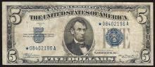 1934A $5 Silver Certificate STAR Note