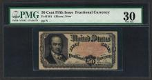 1874 50 Cent Fifth Issue Fractional Currency Note Fr.1381 PMG Choice Very Fine 3