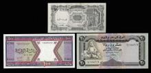 Lot of (3) Assorted Middle East Notes
