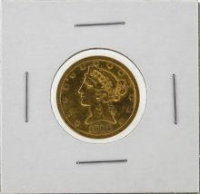 1898-S $5 Liberty Head Half Eagle Gold Coin