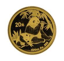 2007 1/20 oz China Panda Gold Coin