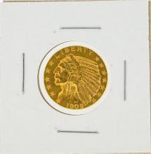1909-D $5 Indian Head Gold Coin AU