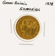 1878 Great Britain Sovereign Gold Coin