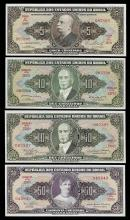 Lot of (4) Assorted Brasil Notes