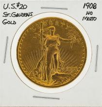 1908 NM $20 St. Gaudens Double Eagle Gold Coin