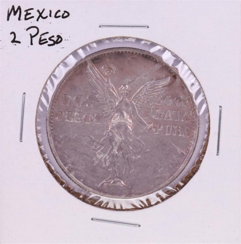 1921 Mexico 2 Pesos Silver Coin