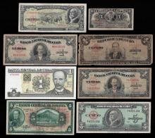Lot of (7) Assorted Cuba Notes