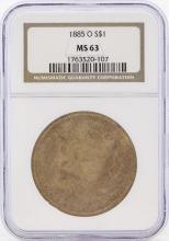 1885-O $1 Morgan Silver Dollar Coin NGC MS63 Great Toning