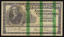 1920 Democratic National Convention San Francisco Ticket