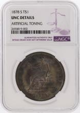 1878-S $1 Liberty Seated Trade Dollar Coin NGC Graded UNC Details