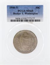 1946-S Booker T Washington Memorial Commemorative Half Dollar Coin PCGS MS65