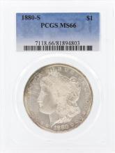 1880-S $1 Morgan Silver Dollar Coin PCGS MS66
