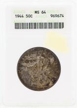 1944 Walking Liberty Half Dollar Coin ANACS MS64
