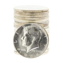 Roll of (20) 1964 Brilliant Uncirculated Kennedy Half Dollar Coins