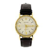 Vintage 18K Yellow Gold Rolex Precision Metropolitan Wristwatch
