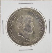 1856 Napoli Italy 1 Piastra Coin