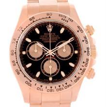 Rolex Cosmograph Daytona 18K Rose Gold Chronograph Watch