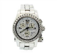 Breitling Stainless Steel Emergency Mission 5.00ctw Diamond Wristwatch